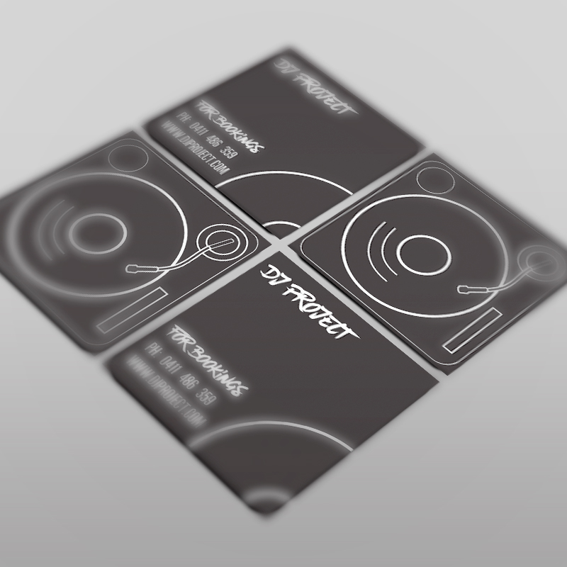 Personal Project - DJ Business Cards - Chance Design